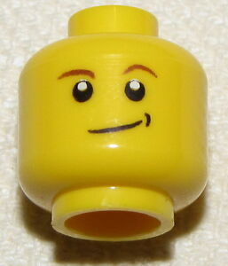 Lego 20 Minifigure Minifigs heads spares parts Male Glasses Eyebrows Smile New