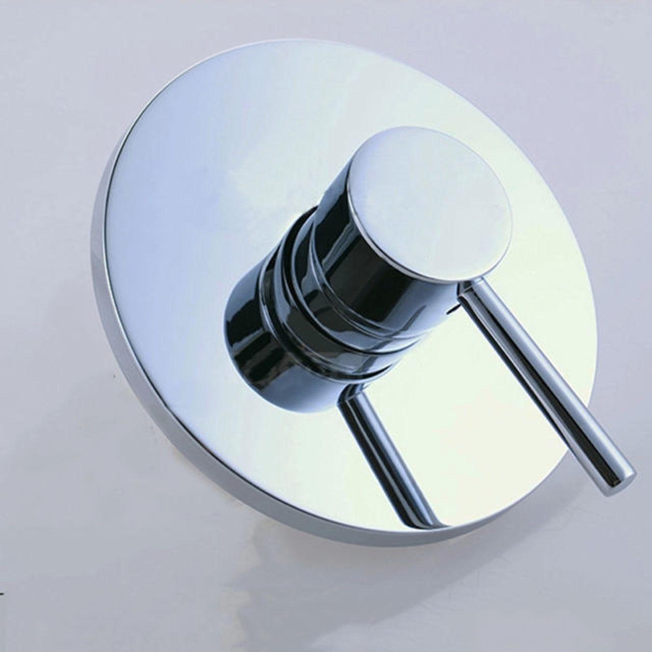 chrome shower mixer faucet control valve single handel. Black Bedroom Furniture Sets. Home Design Ideas