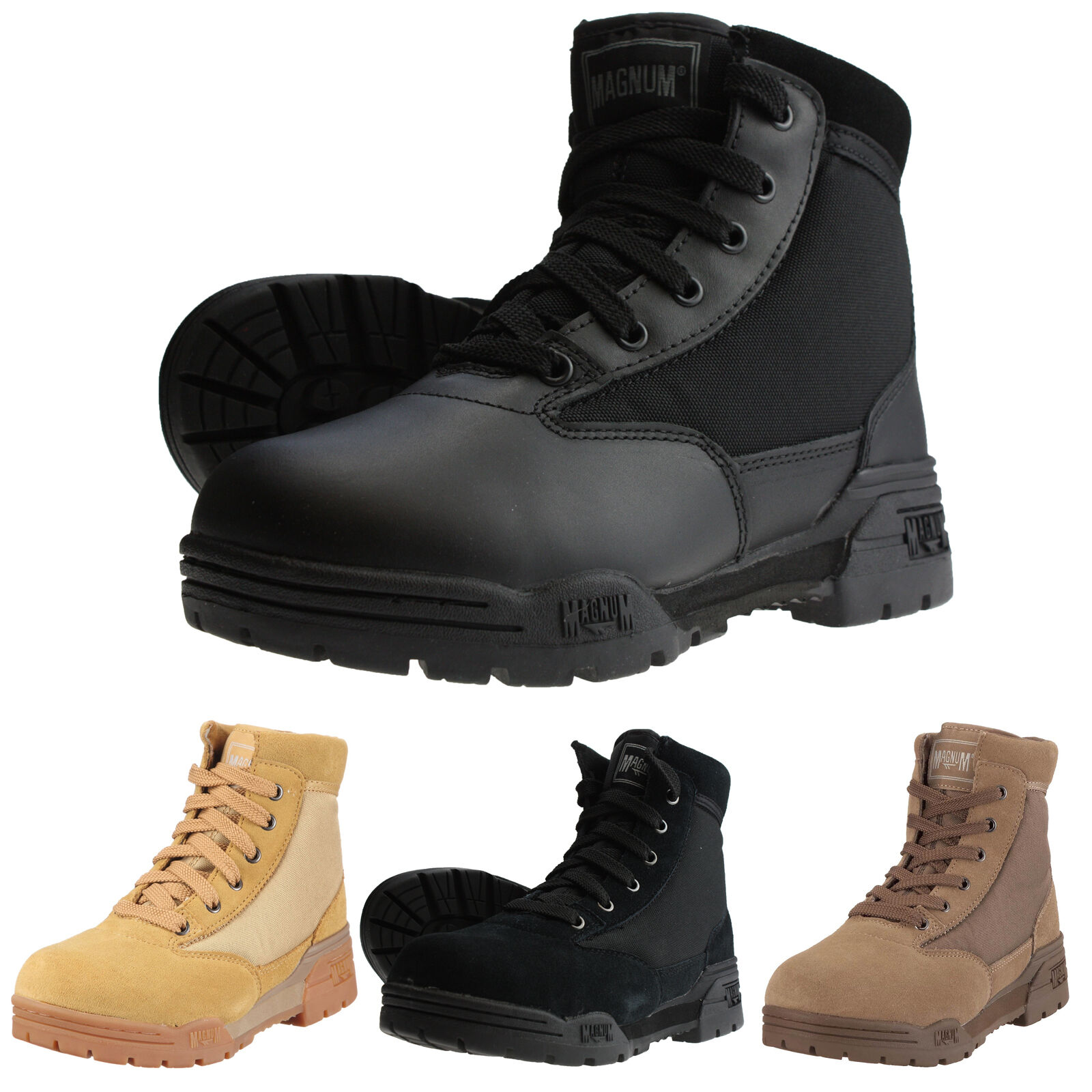 HI-Tec-Magnum Mid Boots Stivali Ranger Uomo e Donna Security Ranger Stivali Scarpe paintb 302bb0