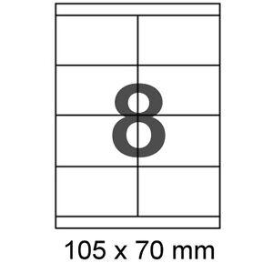 50-A4-Bogen-Etiketten-105x70mm-Formatkompatibel-Herma-4426-Avery-Zweckform-3426