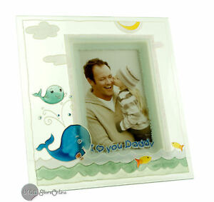 Sentiment Photo Frame I Love You Daddy Glass Frame In Gift Box