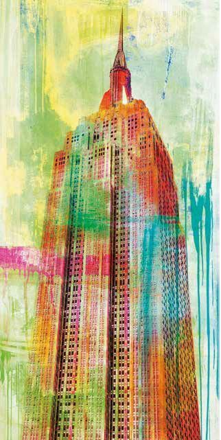 Eric Chestier  The Building 2.0 Keilrahmen-Bild Leinwand New York bunt Pop