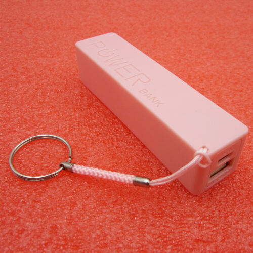 USB Power Bank Charger Pack Box Battery Case For 1x18650 DIY Portable Pink