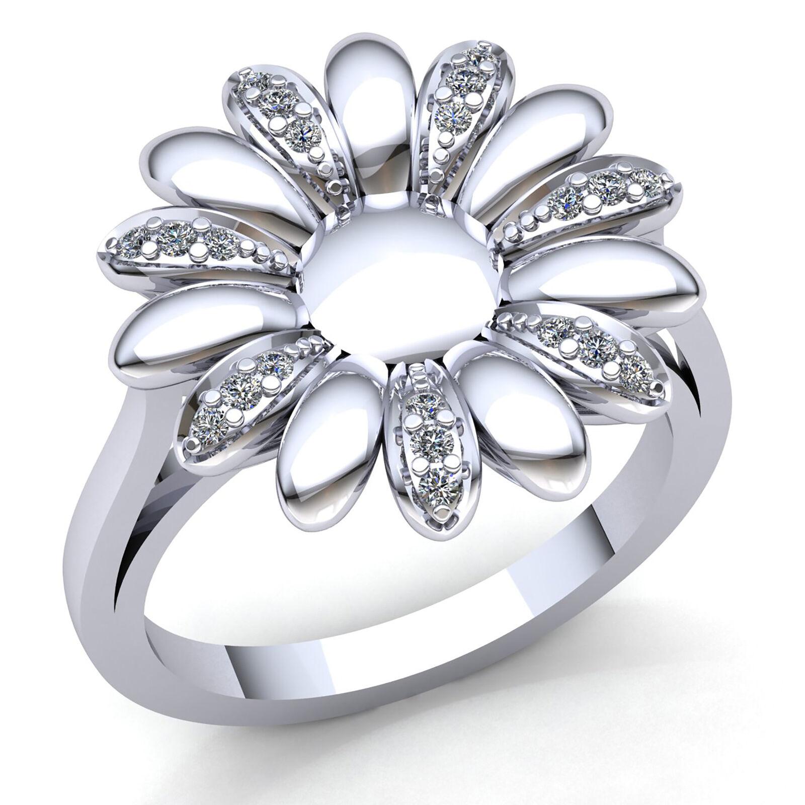 0.25ct Round Cut Diamond Ladies Vintage Floral Anniversary Ring 10K gold