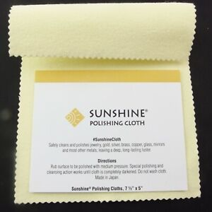 Details about Sunshine Jewelry Polishing Cloth Silver Jewellery Cleaner +  Gold Brass Copper
