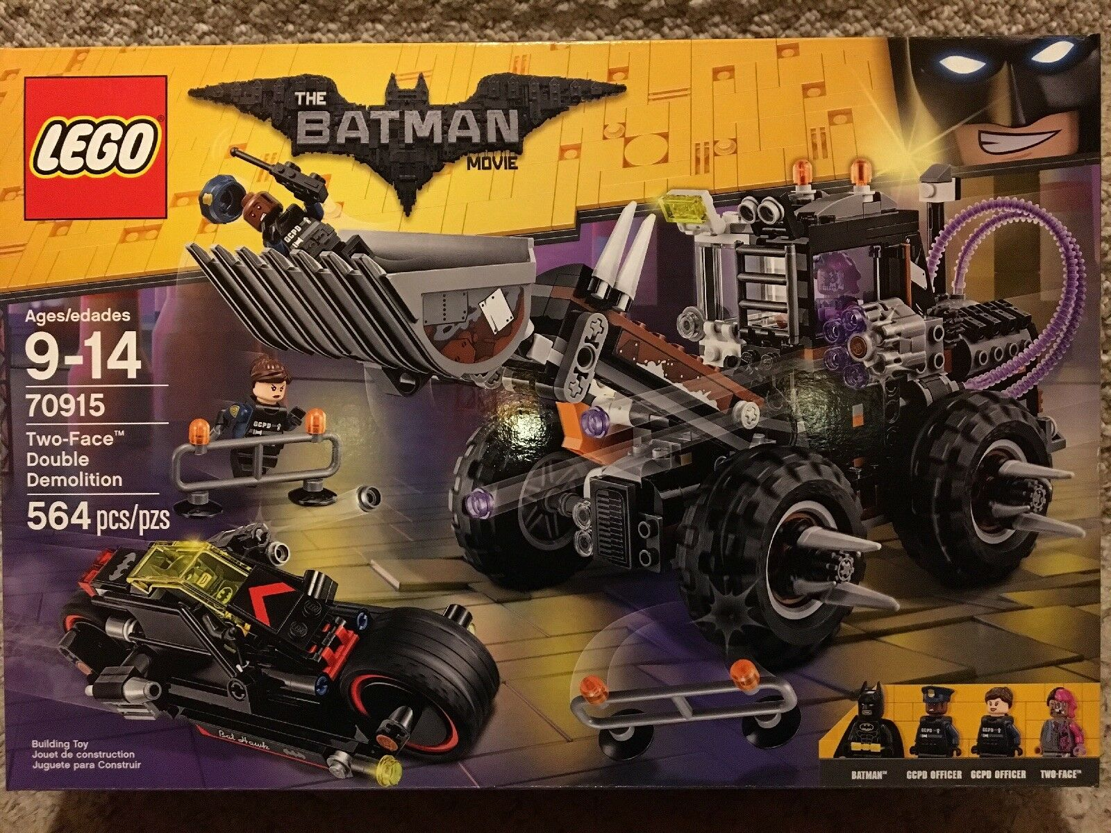2017 LEGO  70915 THE BATuomo MOVIE  TWO-FACE doppio DEMOLITION--nuovo-FACTORY SEALED  negozi al dettaglio