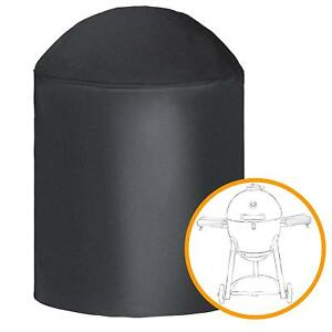 iCOVER-Black-Barbeque-BBQ-Grill-Smoker-Cover-For-Char-Griller-Akorn-kamado-Grill