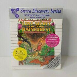 "Lost Secret of the Rainforest Eco Quest Sierra USA PC 3.5"" Big Box SEALED! READ"