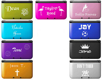 ENGRAVED Nintendo New 3DS XL Aluminum Hard Case Cover 2 piece PERSONALIZED