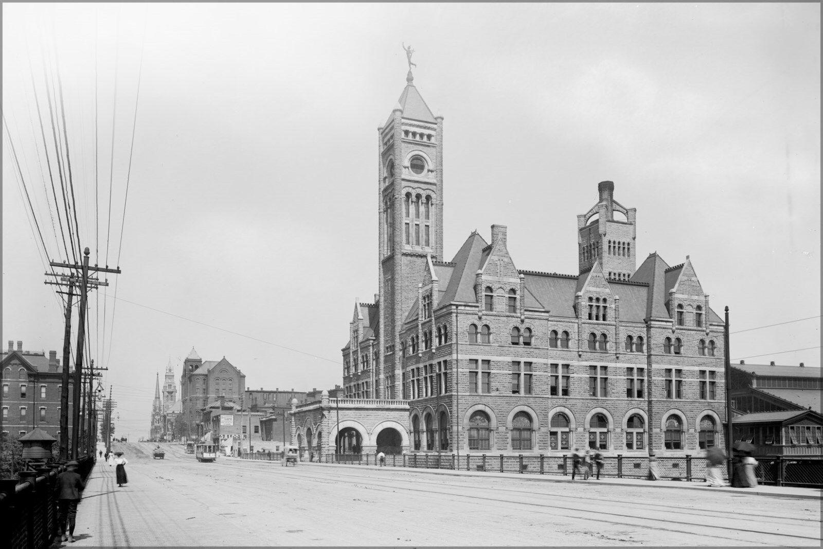 Poster, Many Größes; Union Station, Nashville, Tennessee 1900