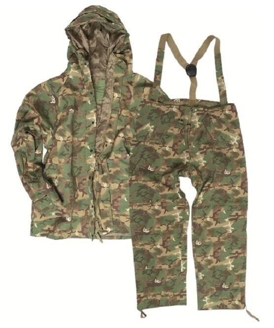 US ECWCS Giacca Pantaloni Tuta Umidità Protezione ARID WOODLAND Mimetico suit XXL