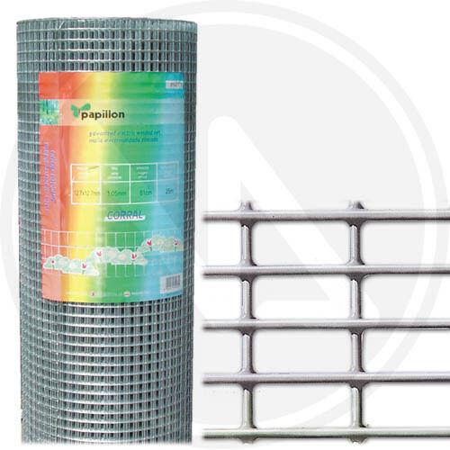 Rete elettrosaldata zincata recinzione recinto gabbia animali 102 x 250 cm 89280
