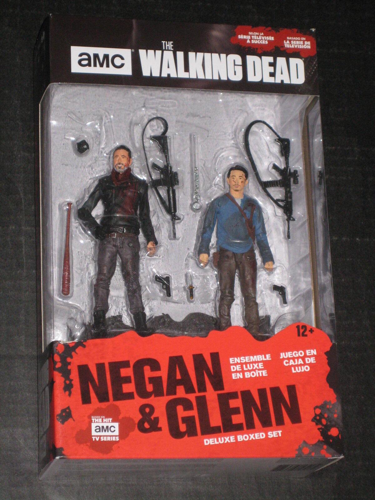 THE WALKING DEAD TV GLENN RHEE & NEGAN BLOODY FIGURES MCFARLANE DEAN MORGAN YEUN