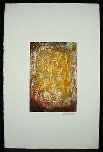 Mahee-Kunstblatt-Originell-Unterzeichnet-c1970-Komposition-Abstrakte-Art-Modern