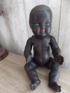 Poupee Poupon Ancien Noir Baby De Convert En Celluloïd Circa 1955