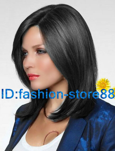 Fashion sexy Women's ladies short Black Natural Hair full wigs + Free wig cap