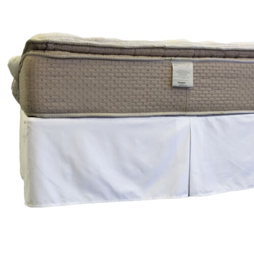 """Full Size 650TC Wrinkle-Free Cotton Split Corner Bed Skirt with 15/"""" Drop"""