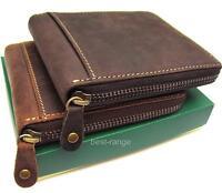 Mens Wallet Real Leather Zip-Around Visconti Hunter Collection New in Gift Box