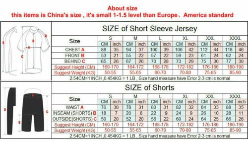 2020 J1J9U Road Mens Team Racing Cycling Short Sleeve Jersey Top Size S//M//L//XL//X