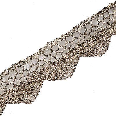 Metallic Colour Lace Trim 2cm Wide - Colour & Length Choice