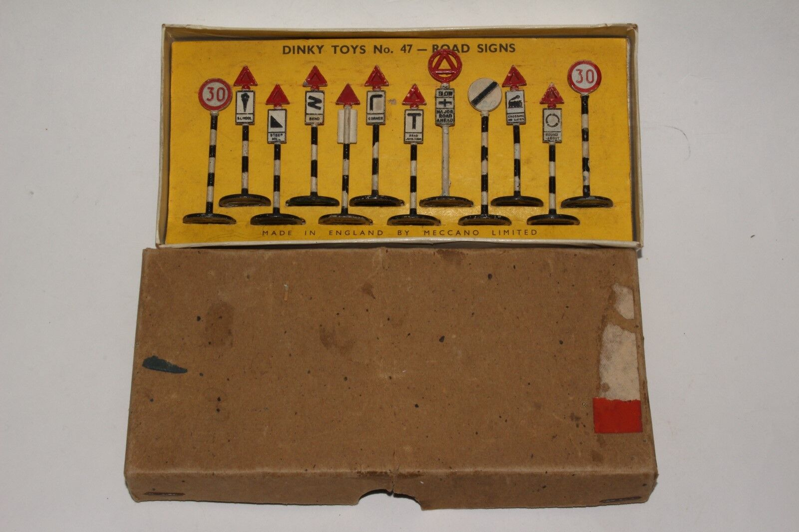 Années 1950 DINKY  47 panneaux routiers, Nice avec boîte d'origine