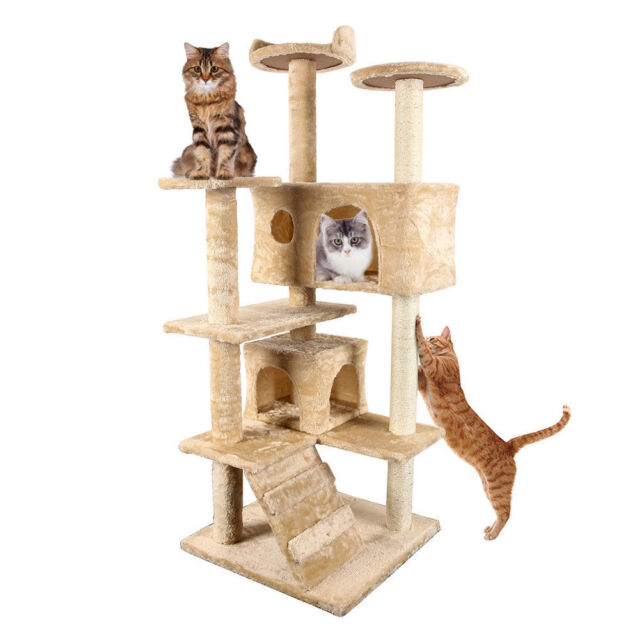 cat tree house merax cat tree tower condo furniture scratch post kitty 29699