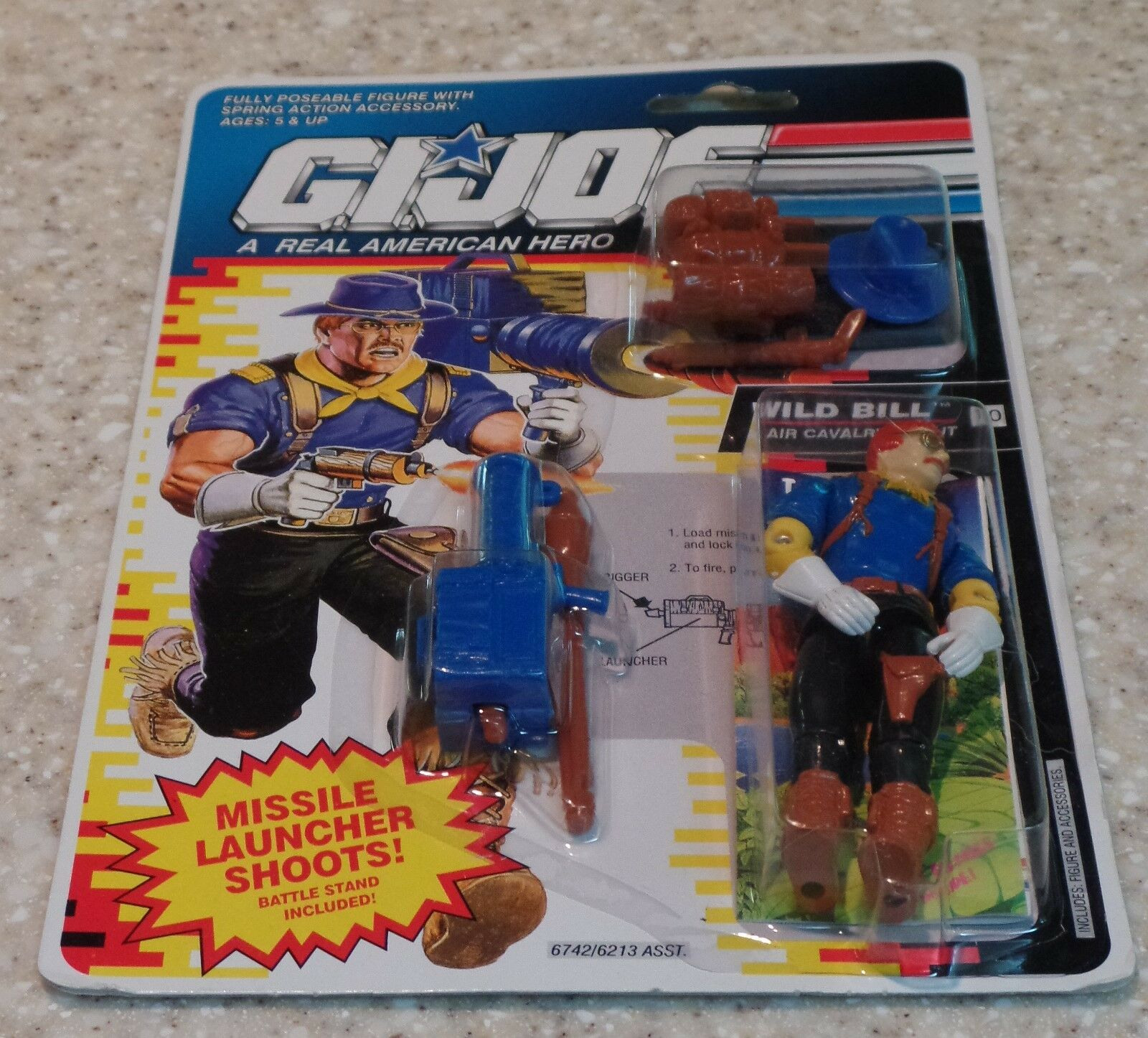 Working spring action!! G I JOE Accessory  1992 Wild Bill    Missile Launcher