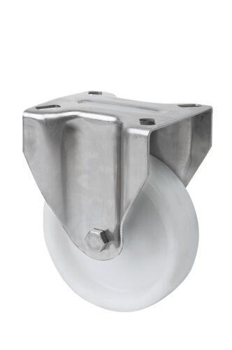 Set di rulli in acciaio inox polyamidrad 150 mm in acciaio inossidabile inox v2a PIASTRA ruolo RUOTA B FS