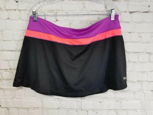 Fila Womens XXL Golf Tennis Skort Skirt Shorts Bla