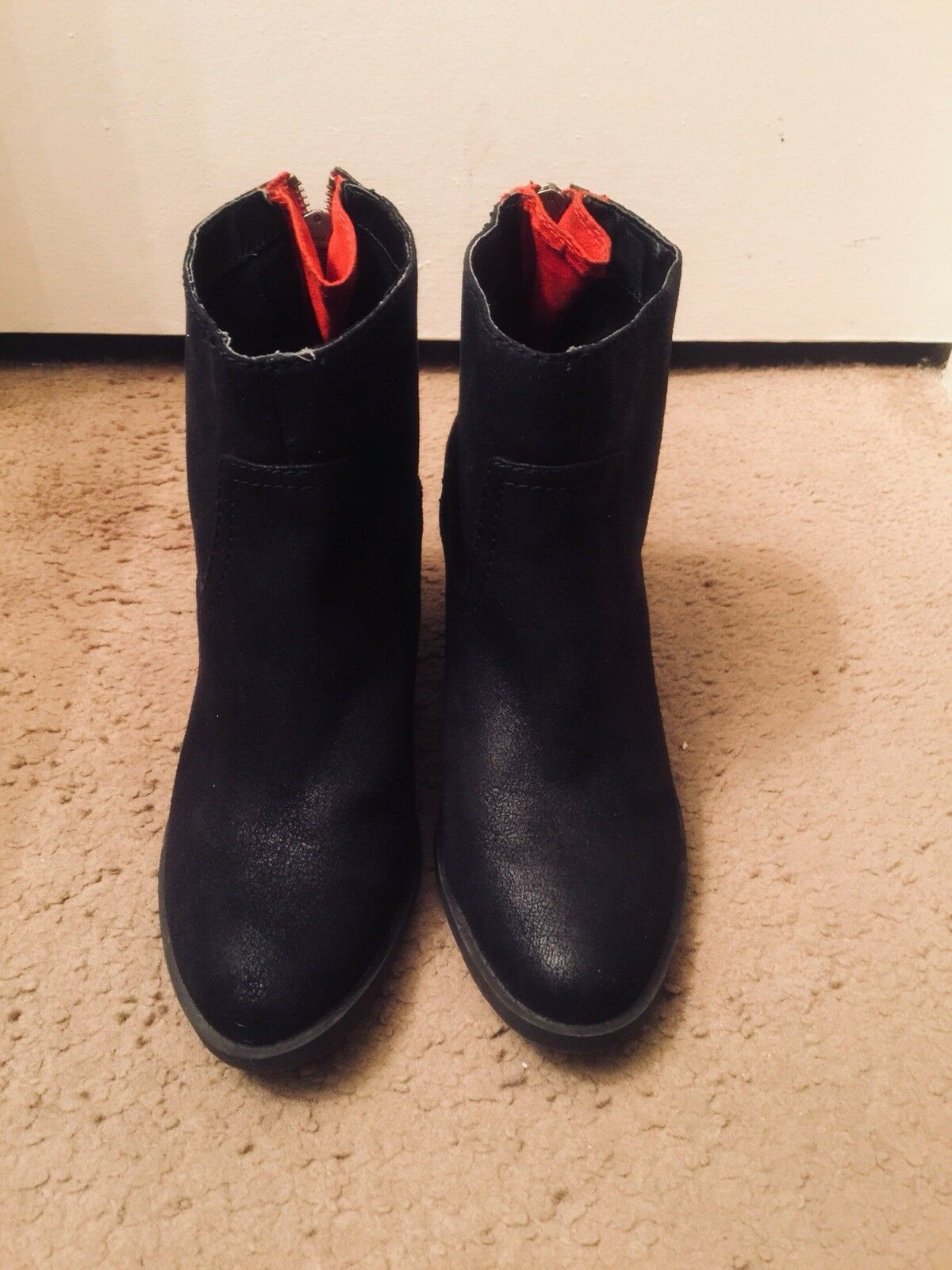 Womens Leather Ankle Boots Size 9.5