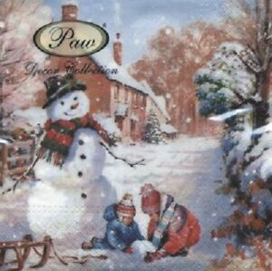 4 x Paper Napkins Napkin Art Winter Countryside Ideal for Decoupage