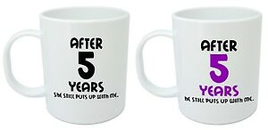 Image Is Loading After 5 Years Him Amp Her Mugs 5th