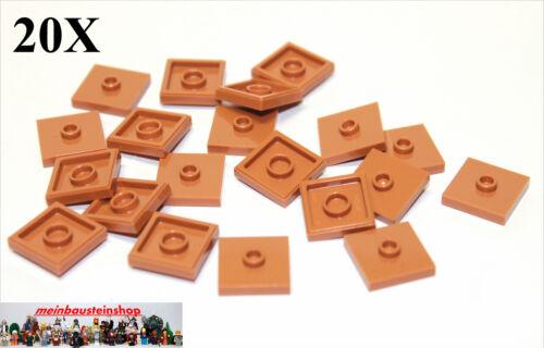20X Lego® 87580 Fliese Platte 2X2 mit 1 Noppen medium Dark Flesh NEU