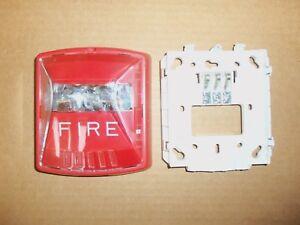 Wheelock-Cooper-HSR-2-W-RED-Wall-mount-Fire-Alarm-Strobe