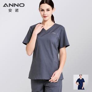 c59cbfd8cc3 Image is loading ANNO-Cotton-Medical-Scrubs-Set-Surgery-Nurse-Uniform-