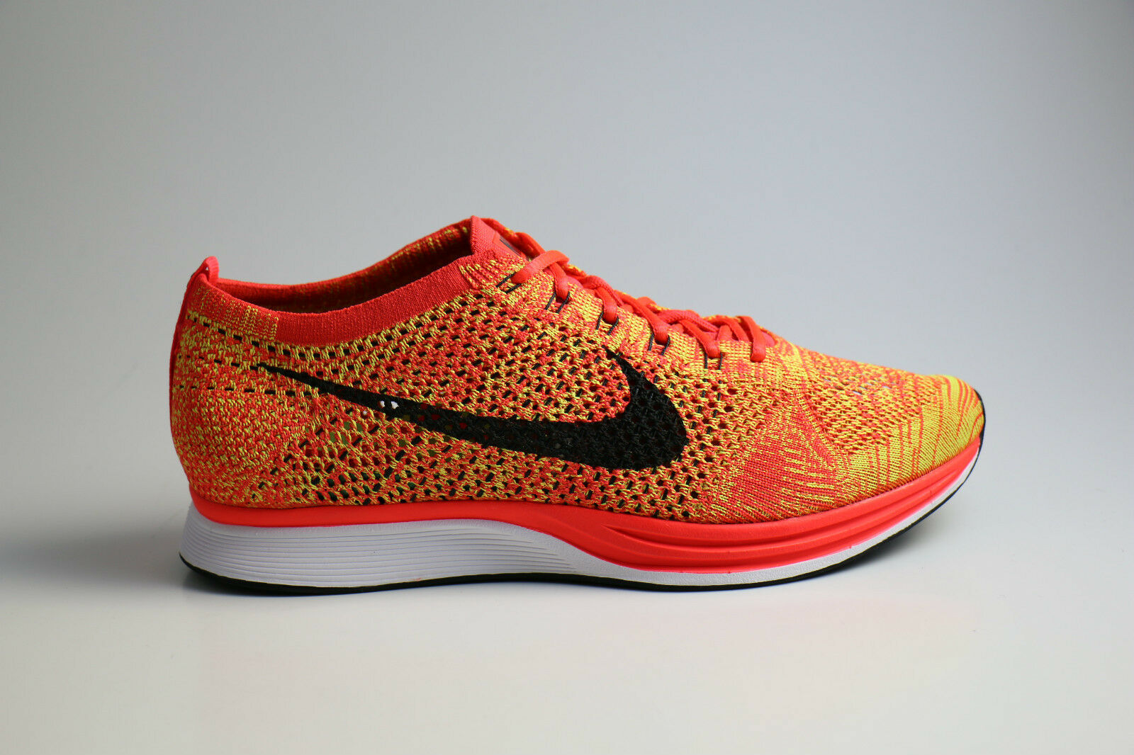 Nike Flyknit Racer Bright Crimson Orange Volt 41 42 42,5 45 8 8,5 11 526628 602