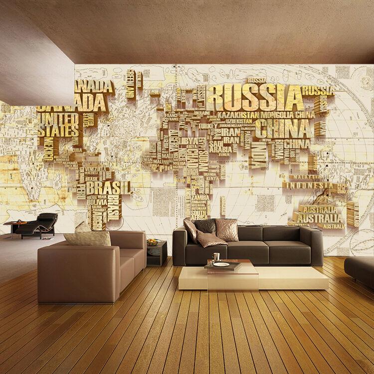 3D goldene Karte 2366 Fototapeten Wandbild Fototapete BildTapete Familie DE