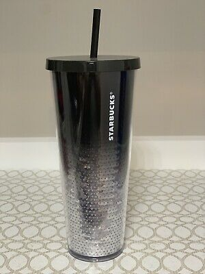 NEW STARBUCKS Sequin Red /& Silver Ombré Cup Tumbler 2018 Holiday Exclusive 24 oz