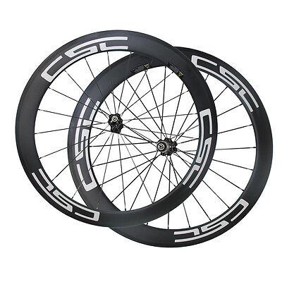 CSC 24mm tubular carbon bike wheels carbon road bicycle wheelset