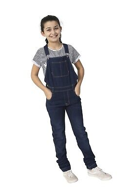 USKEES Benjamin3 Kids Deconstructed Denim Bib Overalls Age 4-14 Loose Fit Cargo