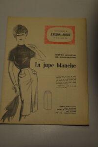 034-ECHO-DE-LA-MODE-034-PATRON-SUPPL-1960-JUPE-BLANCHE-TAILLE-44