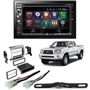 """Car Stereo Double DIN 6/"""" 7/"""" Screen Pocket Dash Kit Compatible with 2016 Tacoma"""