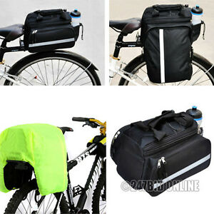 EXPANDABLE-BICYCLE-CYCLE-PANNIER-SADDLE-REAR-SEAT-BIKE-TRAVEL-BAG-WITH-RAINCOVER