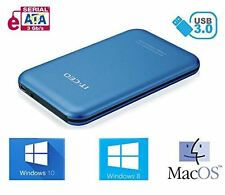 "Allcam USB 3.0 Portable External Hard Drive Enclosure for 2.5"" Laptop SATA Blue"