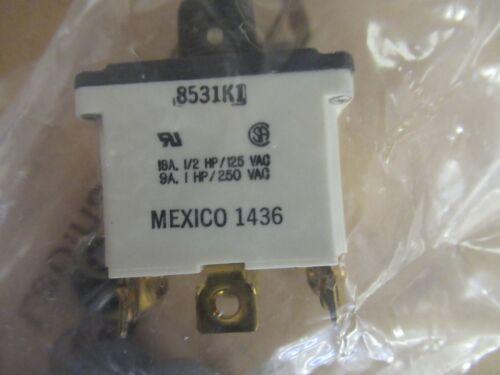DPDT Safran 8531K1 Toggle Switch Non Illuminated On-Off-On