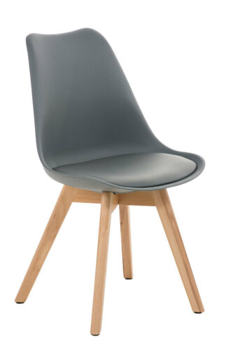 Design Besucherstuhl BORNEO Wartestuhl Loft Konferenzstuhl Holz Retro Stuhl NEU