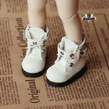 1/6 BJD Shoes Yosd White Boots Dollfie DREAM DOD SOOM MID Luts Dollmore AOD DZ