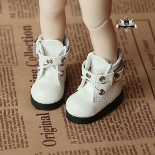 1//6 BJD Shoes Yosd White Boots Dollfie DREAM DOD SOOM MID Luts Dollmore AOD DZ