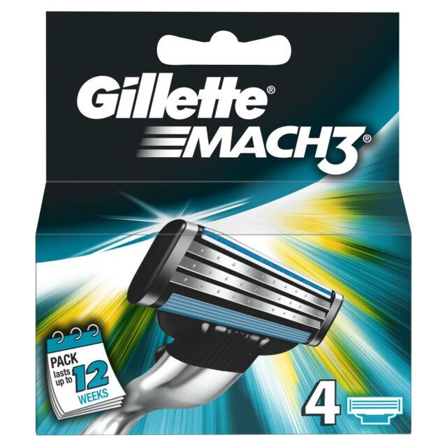 Gillette Mach 3 BLADES - 4 Klingen (Originalware