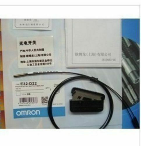 New OMRON E32-D22R E32D22R PhotoElectric Switch Fiber Unit &R1